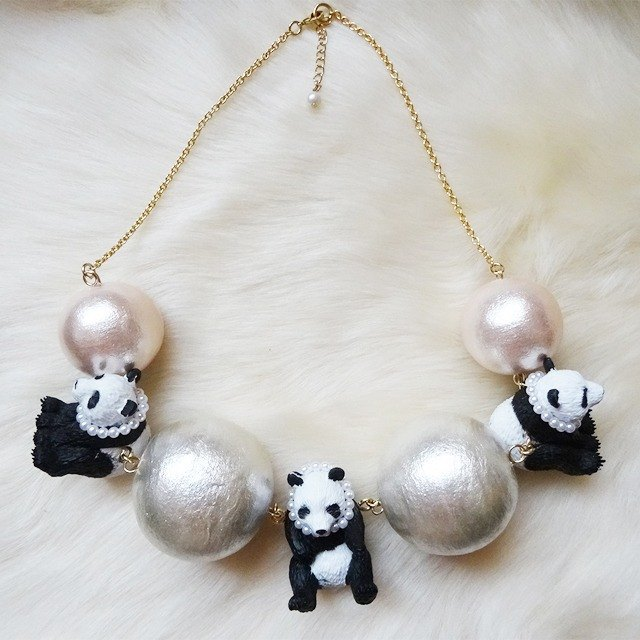 Panda x Big Pearl Necklace
