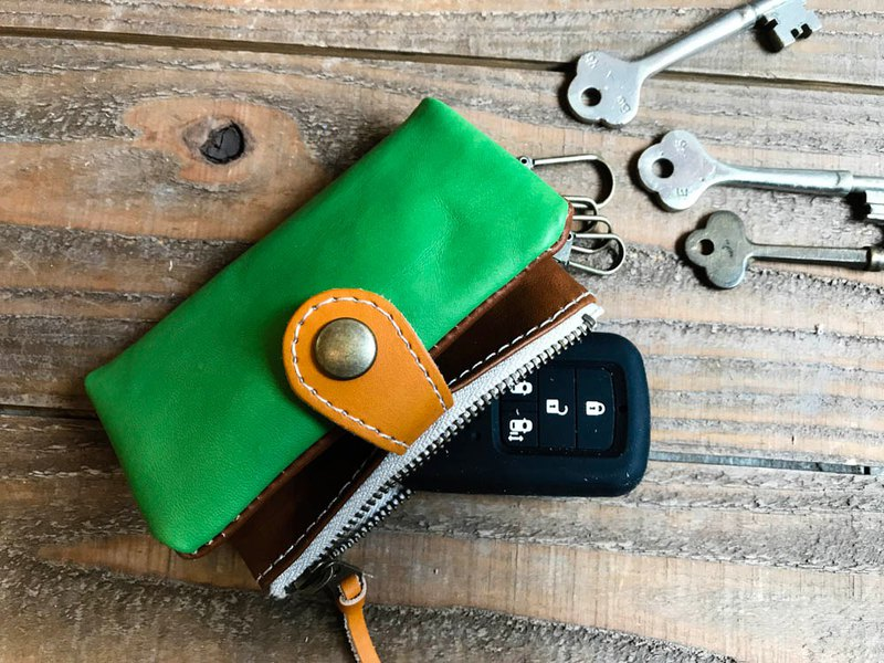 POCKET energetic outdoor color pocket plank key case PPK-GBC-W with card and coins