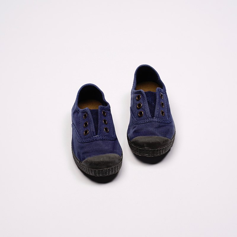 Spanish canvas shoes CIENTA T955777 84 dark blue black washed old children's shoes