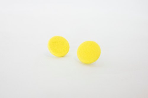 Circle dot Lemon InLine Weave Earrings Earrings 339