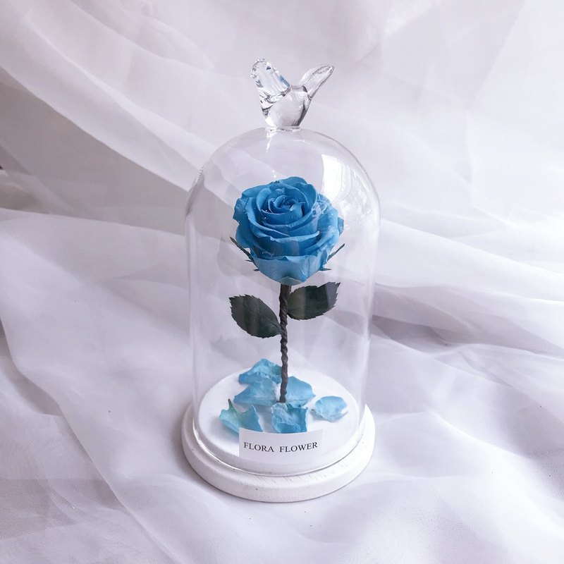 (Blue) Little Prince Eternal Flower Glass Graduation Gift Eternal Life Flower Flower Tanabata Giving