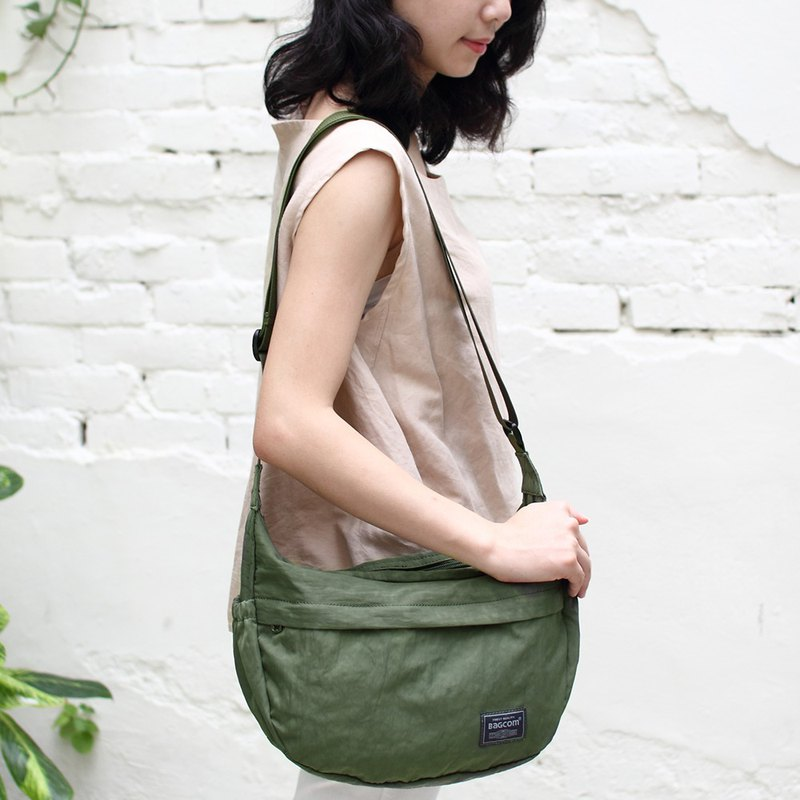 Chloe Double Compartment Shoulder Bag-Army Green_100423