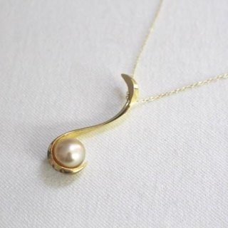 South Sea pearl Silver pendant (gold color)