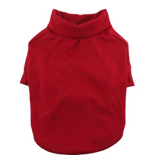 Red Ponte di Roma Turtleneck Raglan Tee, Dog Top, Dog Apparel
