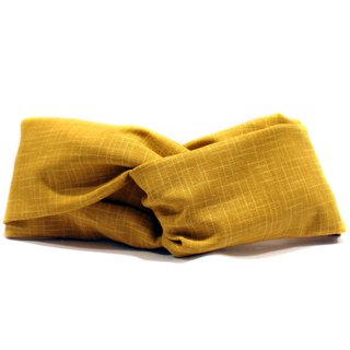 Japanese yellow mustard hair band