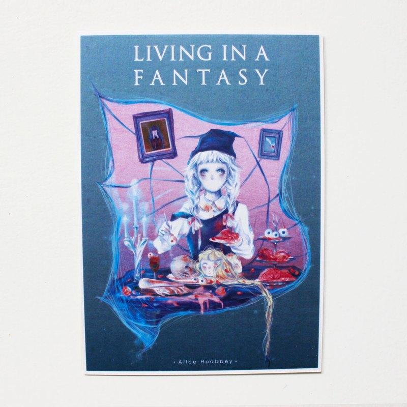 - Alice Hobbey - The fantasy girl series double-sided illustration postcard