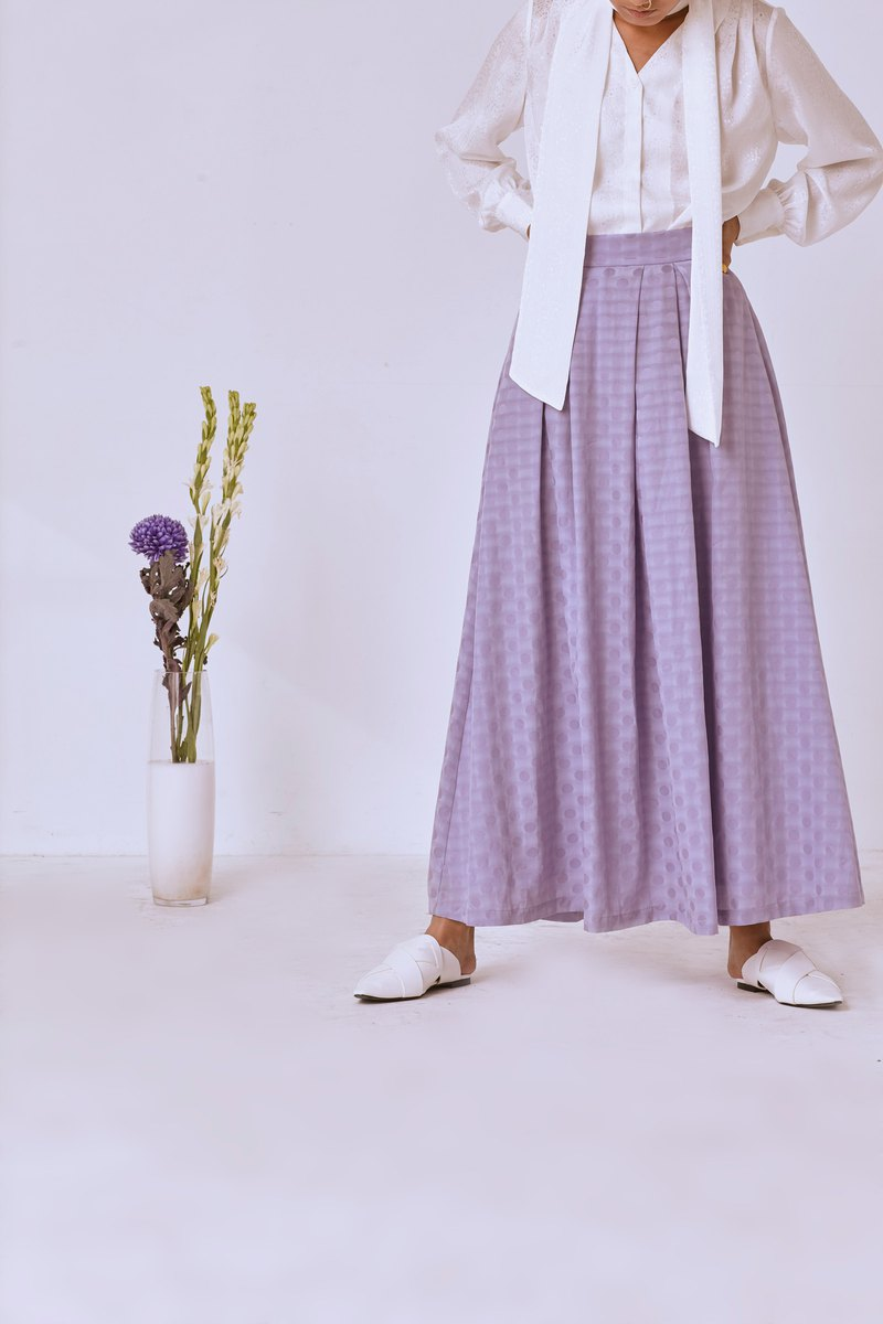High waist pleated skirt/S003