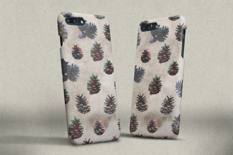 iphone case colorful Pine cones for iphone5s,6s,6s plus, 7,7+, 8, 8+,iphone x