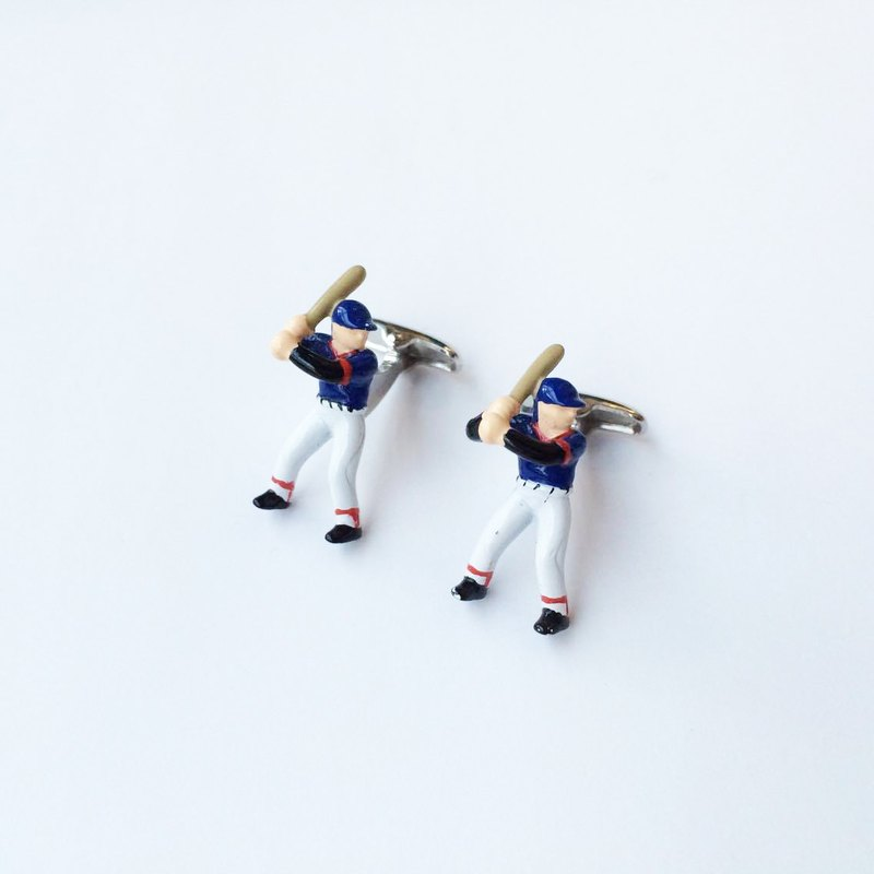 Baseball player cufflinks