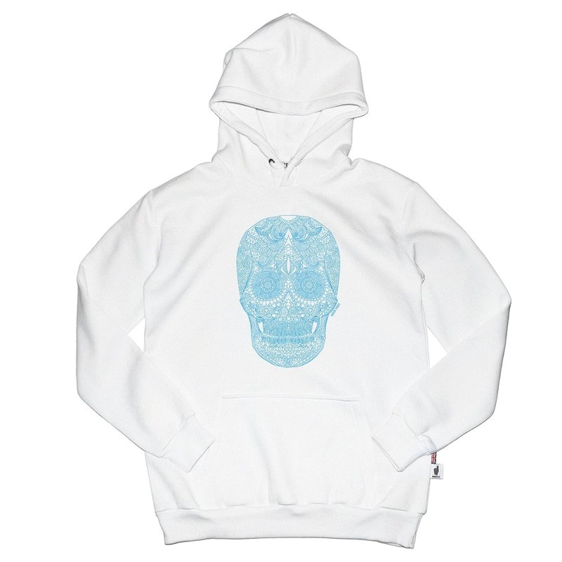 British Fashion Brand [Baker Street] Zentangle Skull Printed Hoodie
