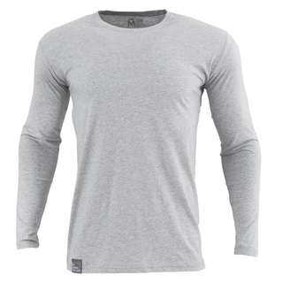 ✛ tools ✛ male version Qingshu cotton round neck long-sleeved gray T # comfort :: :: :: skin-friendly cotton