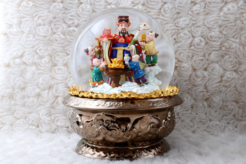 Lucky Fortune crystal ball music box birthday gift honor promotion moved home decoration