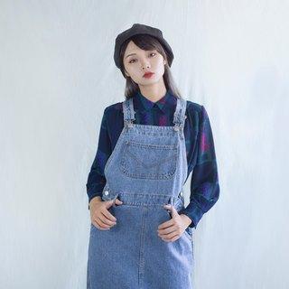 Light color envelope pocket vintage sling denim skirt