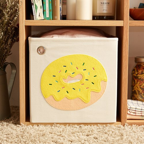 US kaikai & ash Toy Storage Box - Banana Chocolate Donuts
