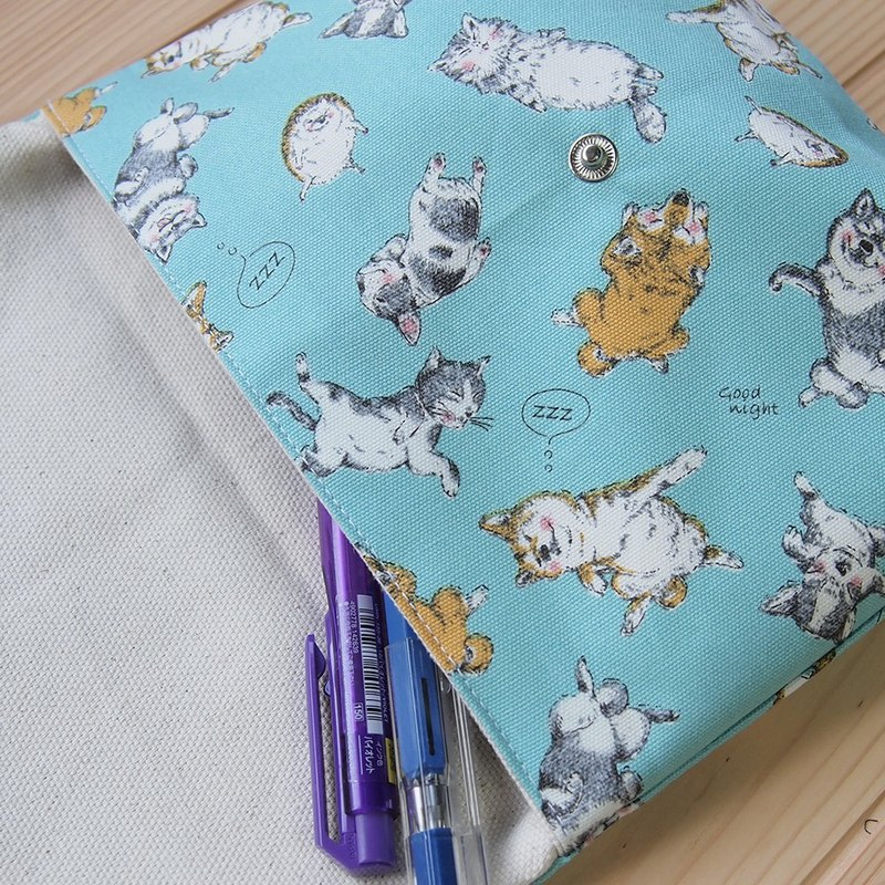 [Lazy Yang Shiba Inu] Hedgehog Cat Cosmetic Bag Cute Pencil Case Storage Document Camera Bag