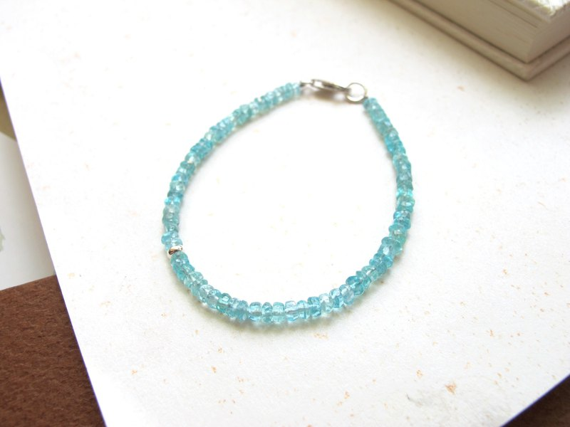 [Small Angle Series - Sky Blue] Blue Apatite x 925 Silver Jewelry - Handmade Natural Stone Series