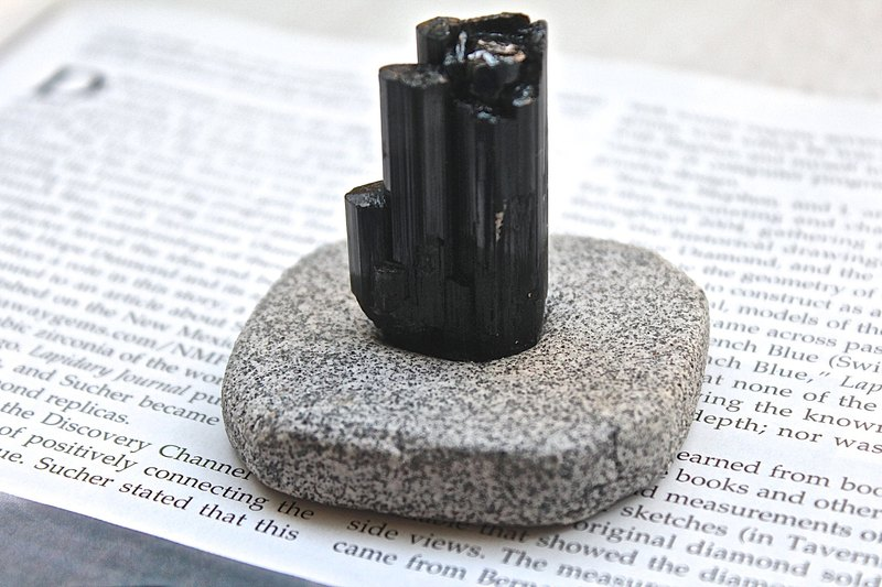 Stone planted SHIZAI ▲ black tourmaline ore (including the base) ▲