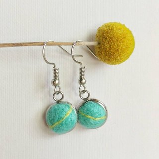 Line hand made wool felt earrings can change ear clip