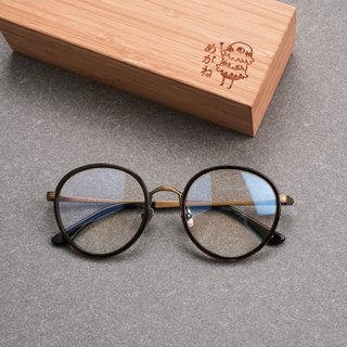 Korea retro round frame big frame titanium metal summer limited edition glasses frame squat