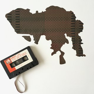 HONG KONG, City Map, Home Decor,  Wall Art, Cassette, weaving, Gift, New Home