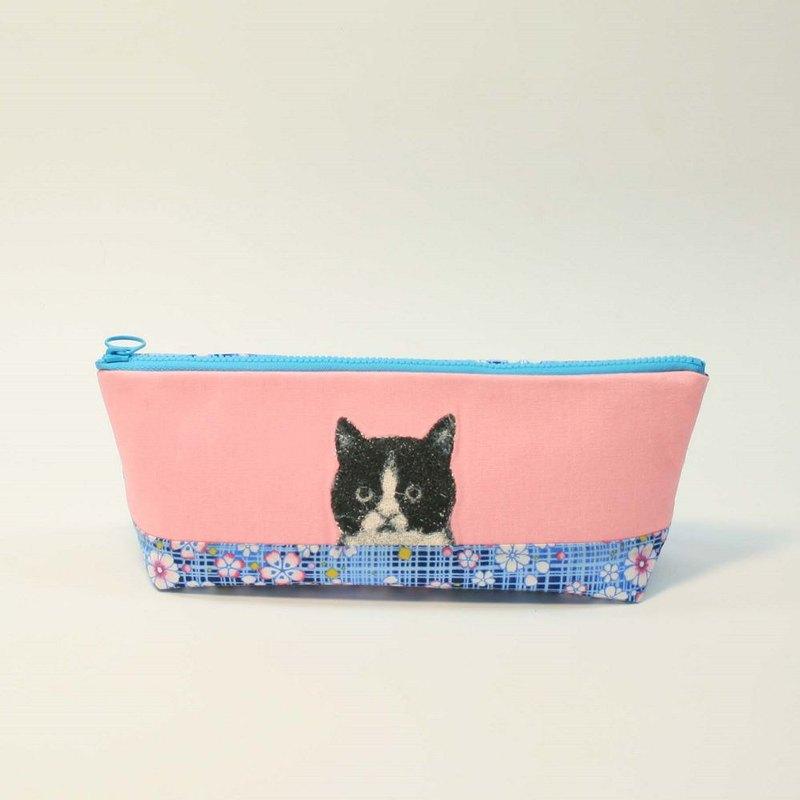 刺繡 筆袋12-黑白貓