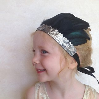 Black Swan Angel Feather Crown