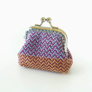 My Handwoven Mini Kisslock Purse - chevron pattern