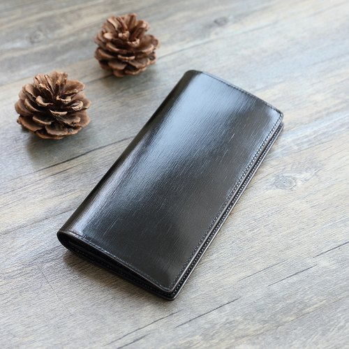 Fu Lami eight handmade leather long clip / wallet