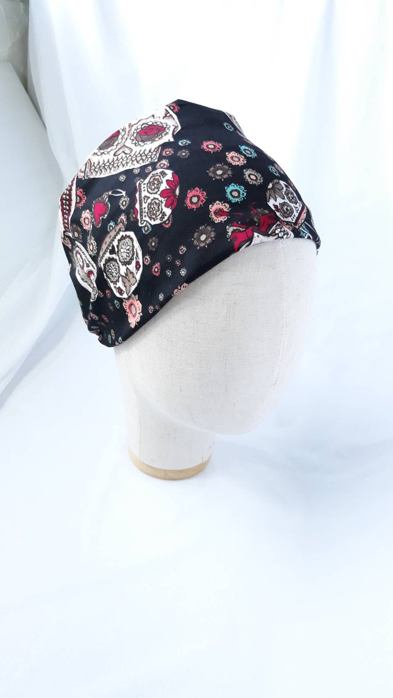 Black bottom turban scarf wide hair band