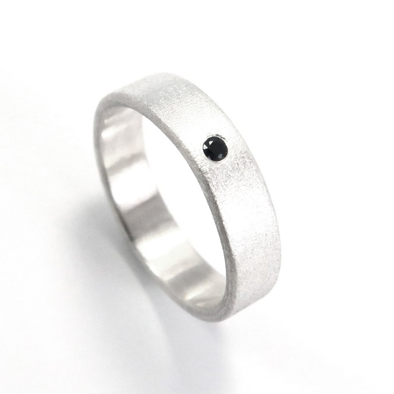 5mm matte diamond ring with sterling silver ring (5 colors available)