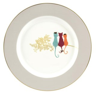 Sara Miller London for Portmeirion Piccadilly Collection Cake Plate - Cats
