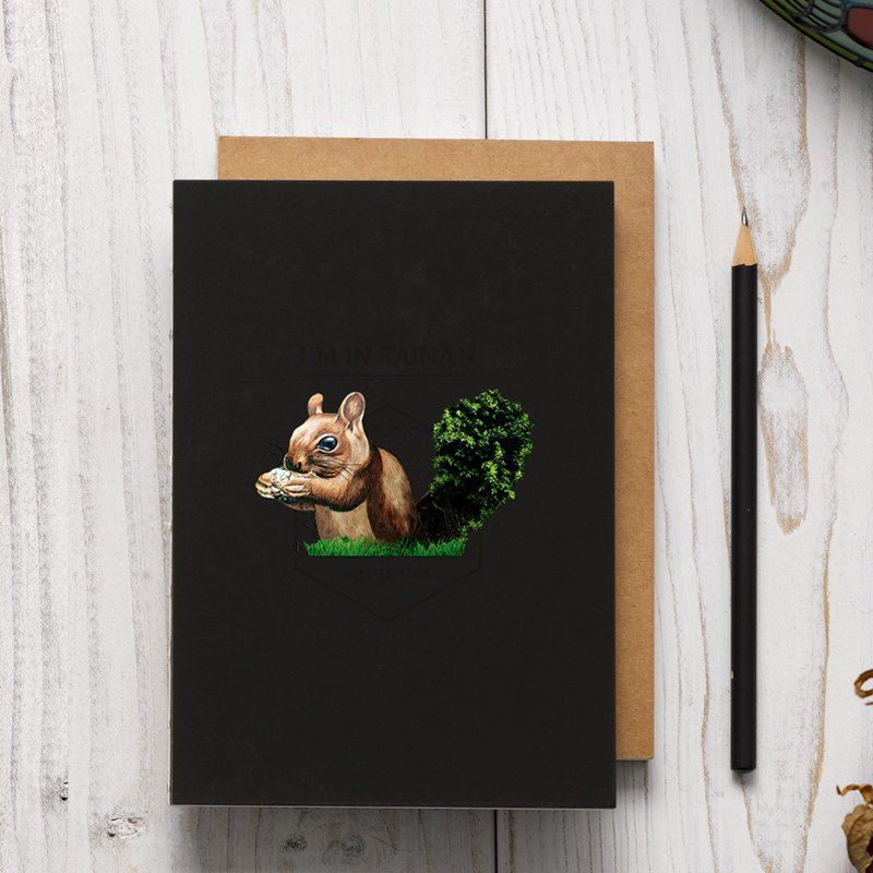 Original printed squirrel series manual line plastic notebook