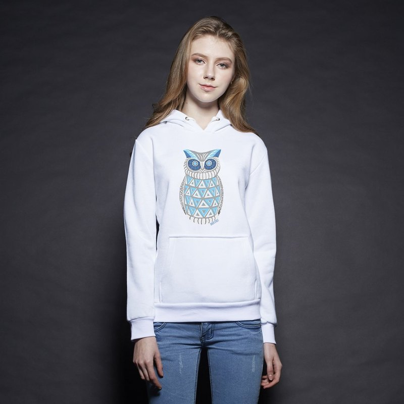 British Fashion Brand [Baker Street] Blue OwlPrinted Hoodie