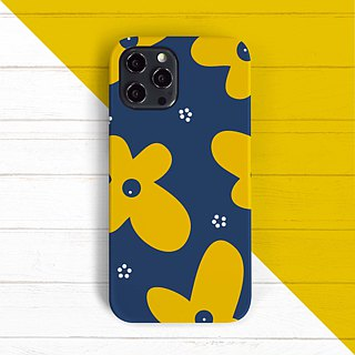 Flowery-Yellow phone case