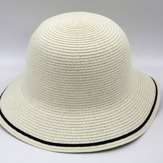 [Paper cloth home] two-color fisherman hat (white) paper weave