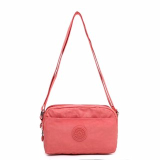 Simple splash-proof cross-body bag / shoulder bag / shoulder bag pink -8089