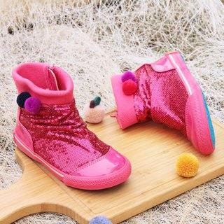 Colorful sequin boots - Pink