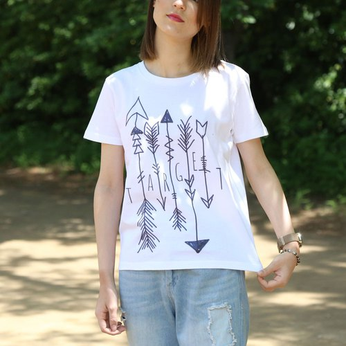 Target Arrow printed T-shirt - White - women's / men's / unisex