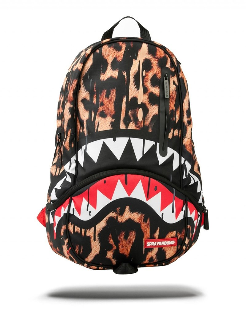 【SPRAYGROUND】 DLXX Series Leopard Drips Leopard Shark Trends Backpack