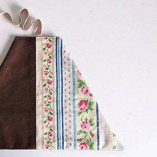 Utensil Wrap (Country Floral x Dark Brown)