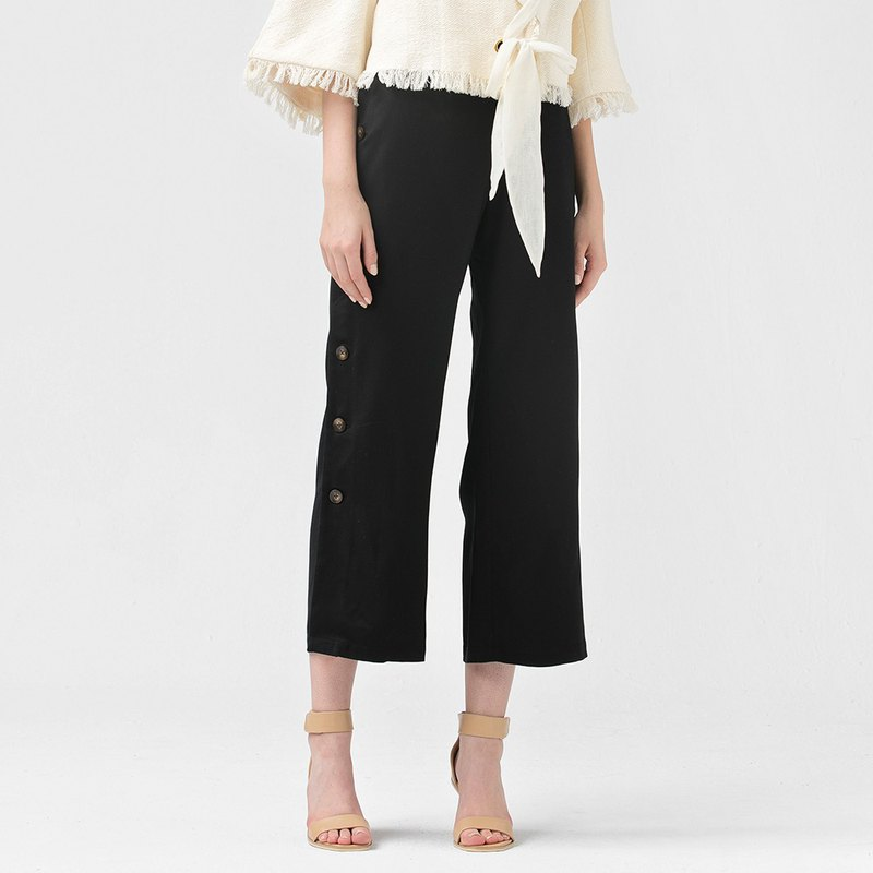 VACAE side button straight straight trousers