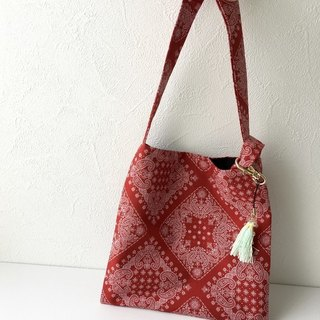 2 Way Mini Bag with Tassels charm / Red version