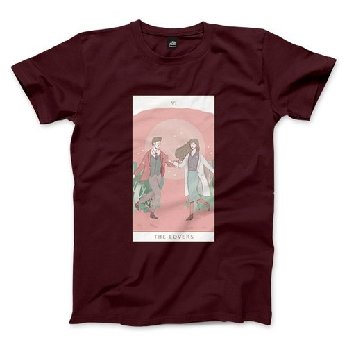 VI | The Lovers - Claret - Unisex T-Shirt