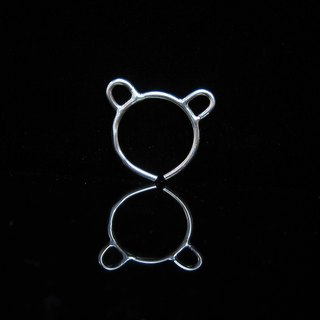 [Simple animal series - Bears] handmade silver ring. Commemorative ring. Valentine's Ring