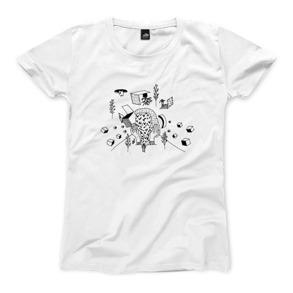 Vomiting man - white - Women's T-Shirt