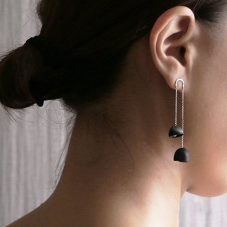 [Haikou Crafts Institute] Wave Series │ Simple Draped Smoked Earrings