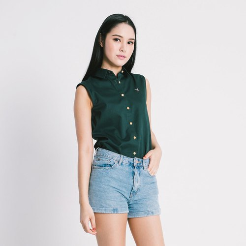 HUMMINGBIRD // duck head green // women sleeveless
