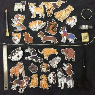 Dog dog waterproof sticker set