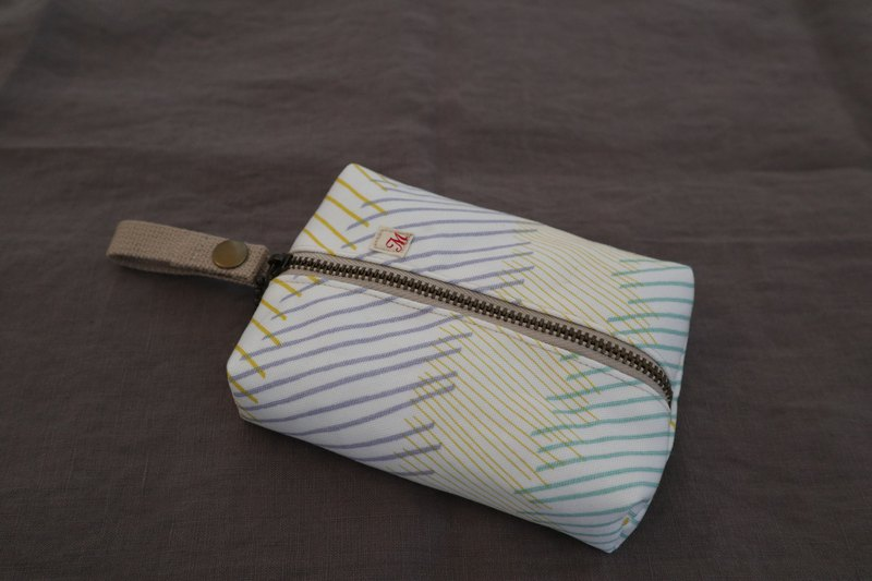Face Paper Pouch (Hand-painted Wind Stripe)