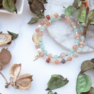 Bigman Taipa [Greek mythology] Sunstone × citrine double circle bracelet [Tianhou] Sheila Hera